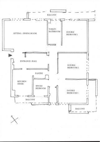 Largo MILLESIMO (Torrevecchia area)- via Montebruno  - 145 m2  - 4 BEDROOMS