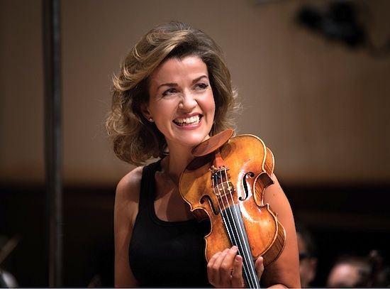 Anne Sophie Mutter at Accademia S. Cecilia
