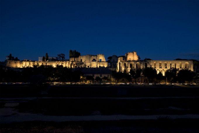 Rome illuminates Palatine hill
