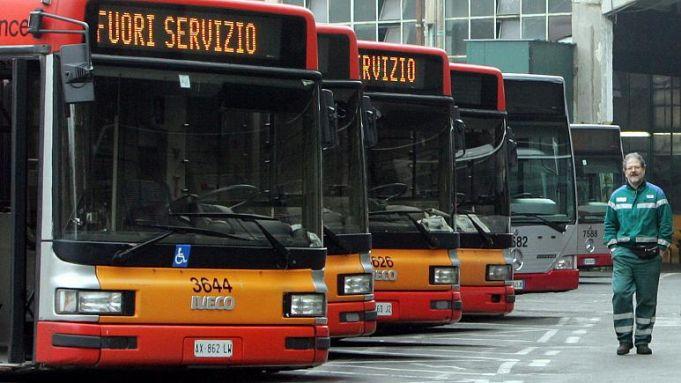 Rome public transport strike on 12 January