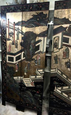 Chinese ancient screen (Coromandel, beginning XIX Century)