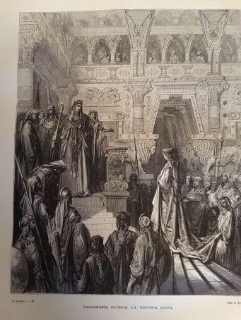 Ancient Bible with 230 original Gustave Doré illustration (Gospel too) - ed. 1869