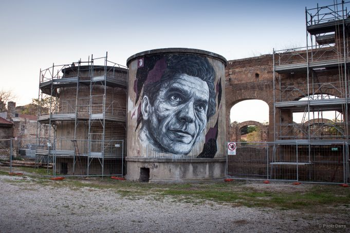 Forgotten urban art project in Rome