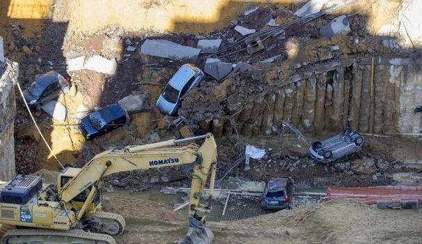 Rome street collapses