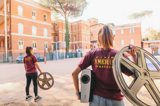 Rome summer film festival stays in Trastevere