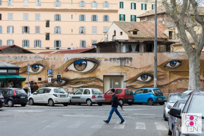 My Dog Sighs mural for Rome's Forgotten Project