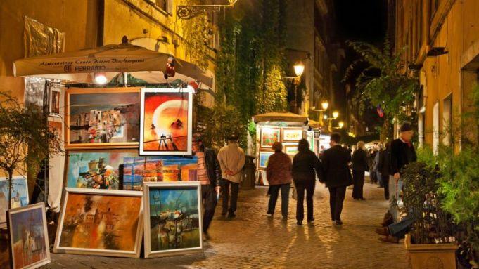 100 painters on Rome's Via Margutta