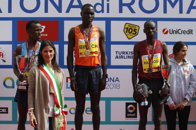 Winners of 2018 Rome Marathon
