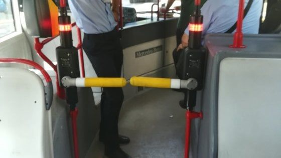Turnstiles on Rome buses
