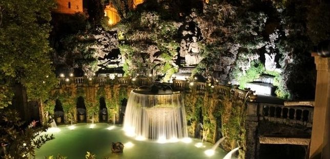 Summer nights at Villa d'Este in Tivoli