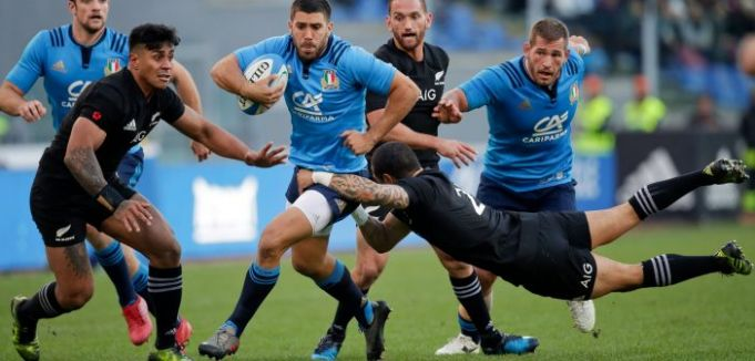 Italy faces All Blacks in Rome rugby match