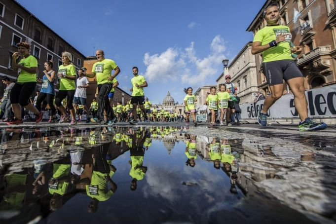 Half marathon for peace in Rome