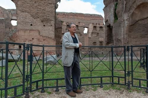 Alvin Curran at the Baths of Caracalla in Rome