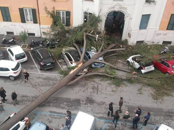 Rome issues safety warning as storm hits capital