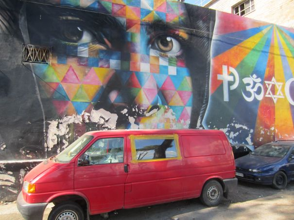 MAAM street art museum in Rome: migrants, murals and marching orders