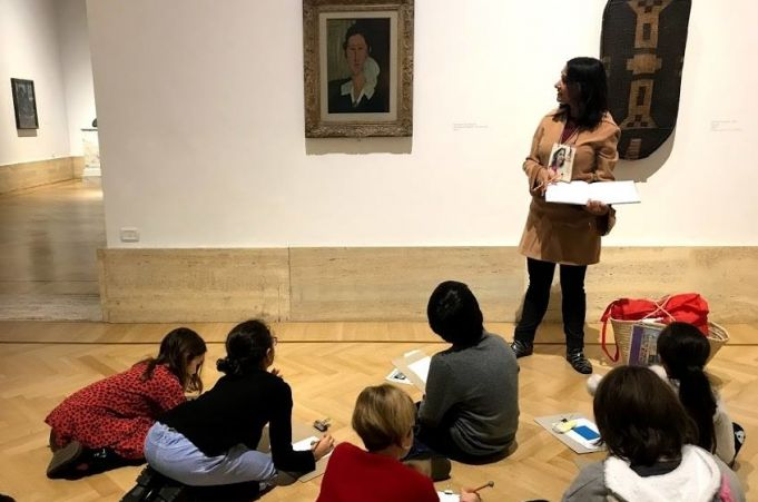 Rome for kids: Drawing at the Museum
