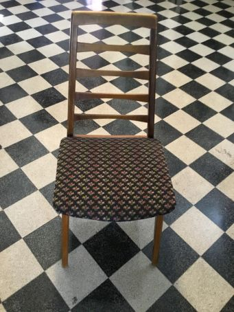 Set of reupholstered chairs