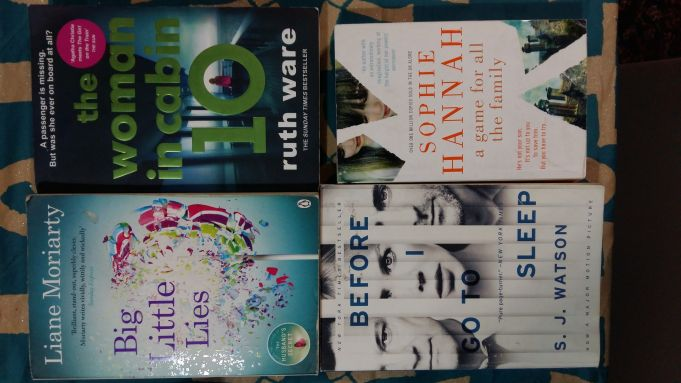 Lot of 4 great crime paperbacks in English