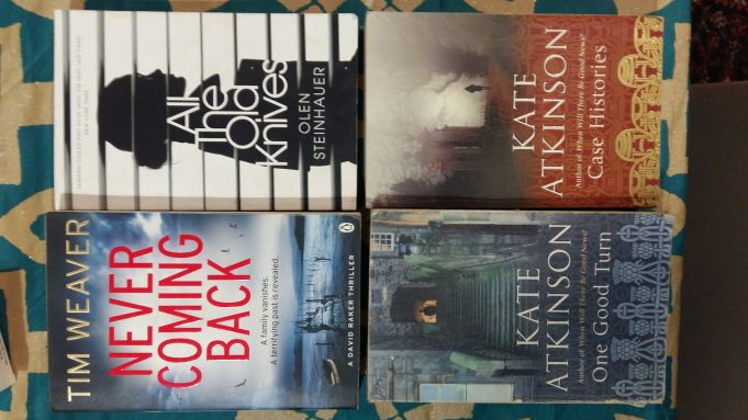 Lot of 4 English crime paperback books