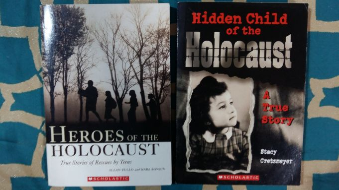 2 Scholastic School books - Holocaust