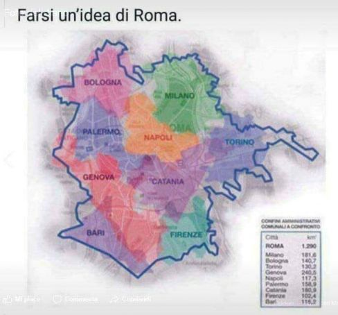 Rome is bigger than...