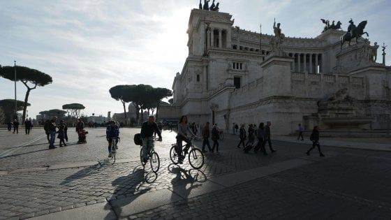 Traffic-free Sunday in Rome on 10 February