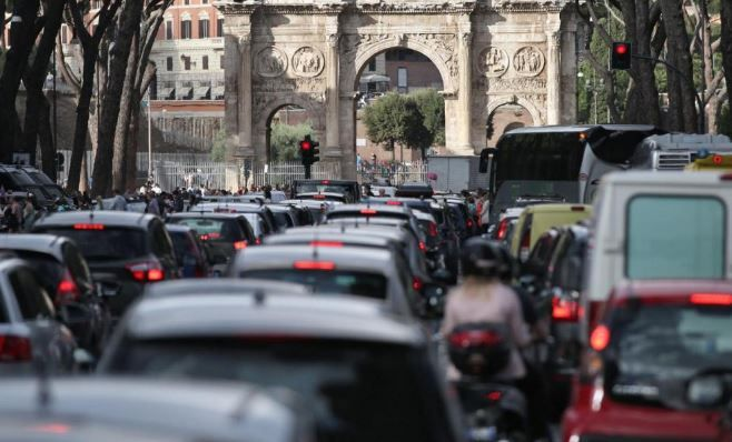 Rome world's tenth most congested city
