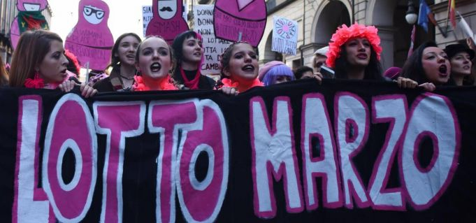 Italy strikes for International Women's Day