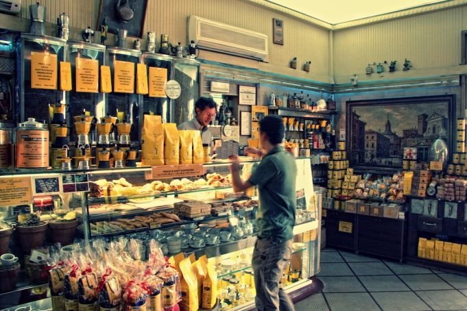 Coffee at Caffè S. Eustachio in Rome