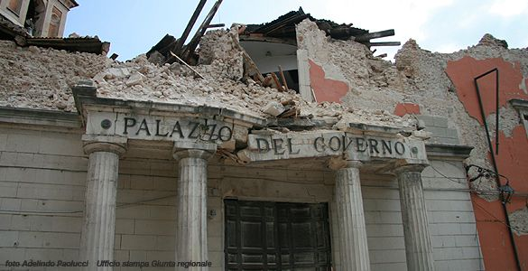 Abruzzo hit by earthquake.