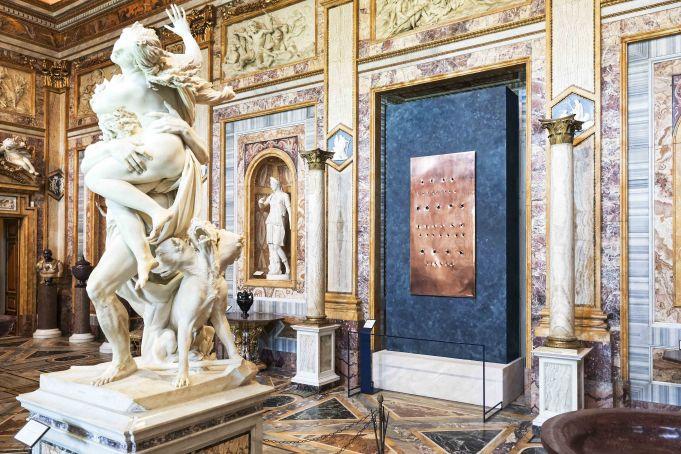 Lucio Fontana at Galleria Borghese in Rome