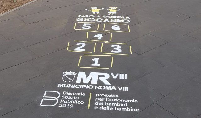 Hopscotch on Rome streets
