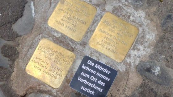 Holocaust memorial desecrated in Rome's Jewish Ghetto