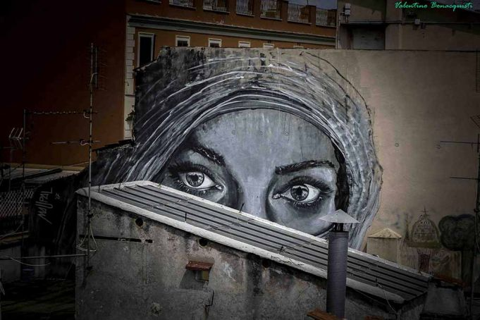 New mural by Rome street artist Maupal