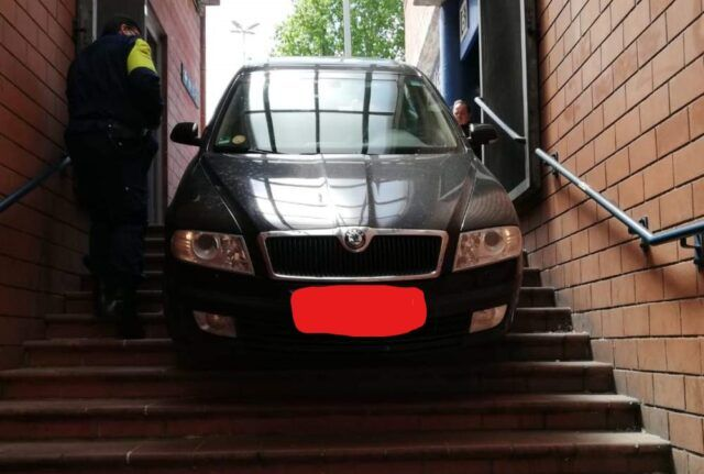 Man drove down stairs of Rome metro station