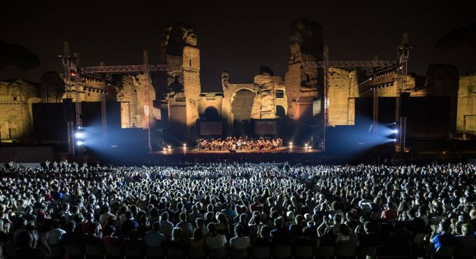 Summer opera festival at Baths of Caracalla in Rome