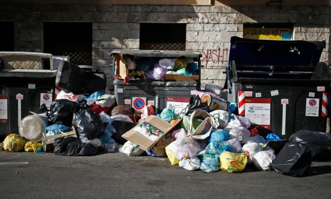 Public health alert over Rome trash