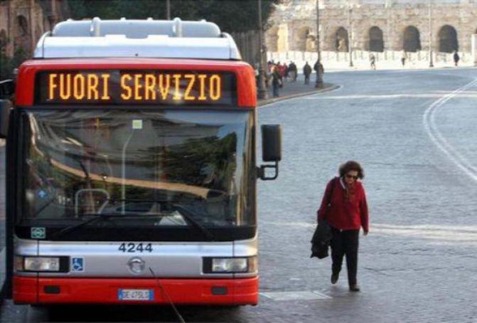 Rome public transport strike on 25 June