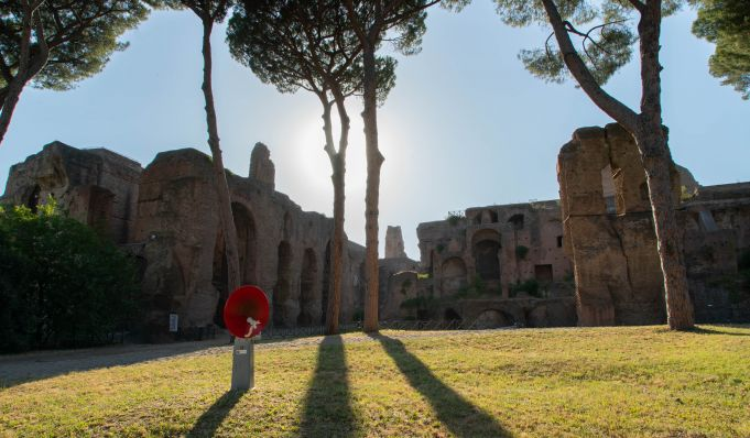 Open-air exhibition on Rome's Palatine Hill