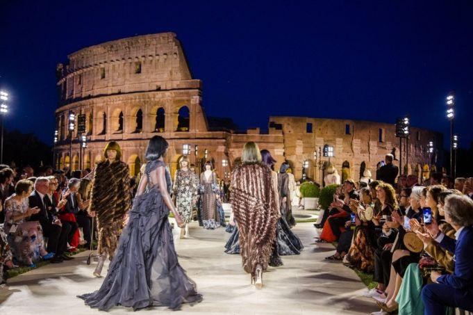 Fendi fashion show in the Roman Forum