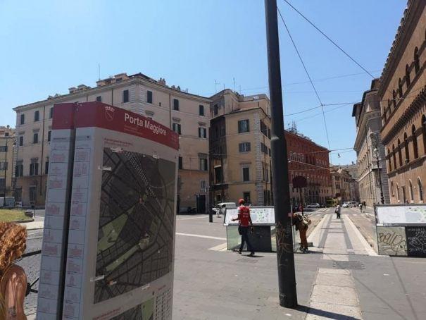 Rome installs tourist map of Porta Maggiore in Piazza Venezia