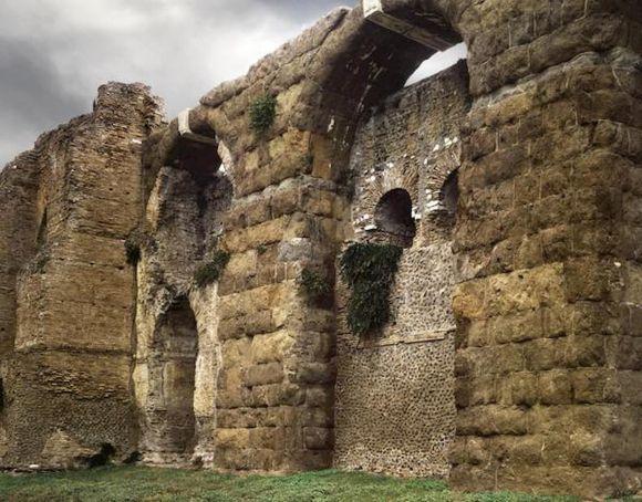 Stone block falls off Aurelian Walls in central Rome