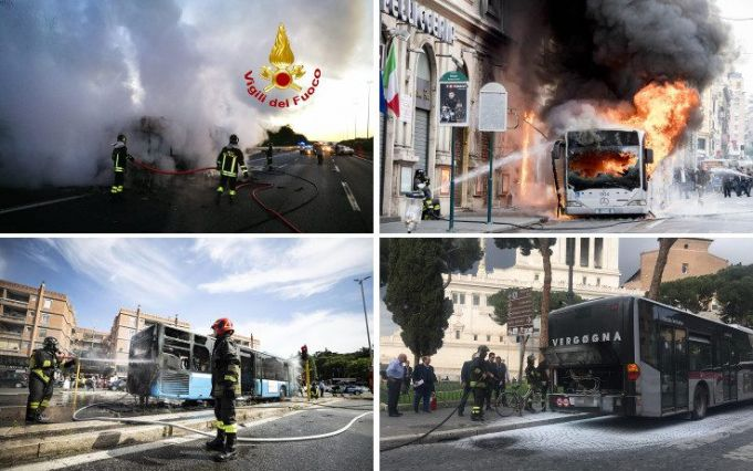 23 Rome buses have caught fire in 2019