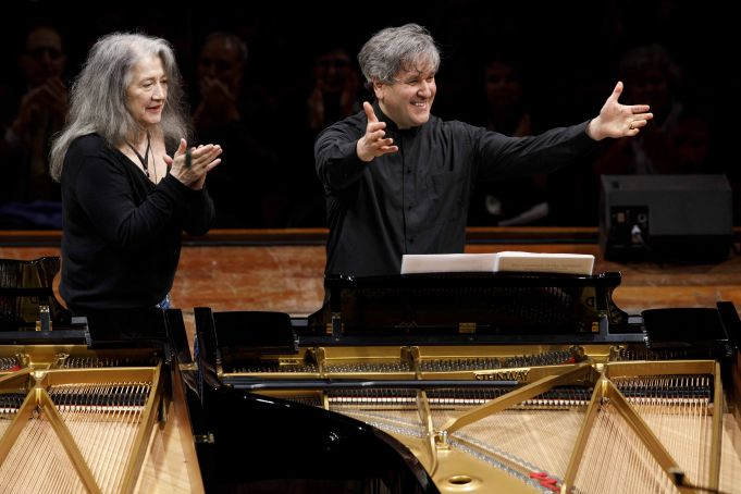 Argerich and Pappano at S. Cecilia in Rome