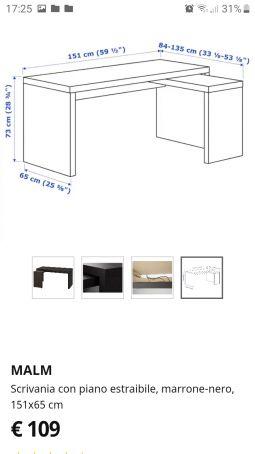 IKEA desk MALM
