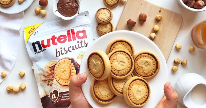 Nutella-filled biscuits go on sale in Italy