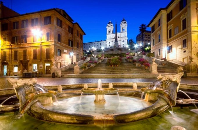 Rome Christmas Market at Spanish Steps