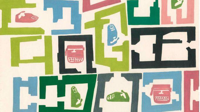 Olivetti graphic design at MAXXI in Rome