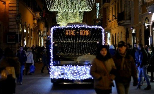Rome's Christmas shopping buses