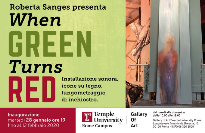 Roberta Sanges exhibition at Temple University Rome